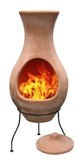 Four Elements Clay Chiminea Air Large