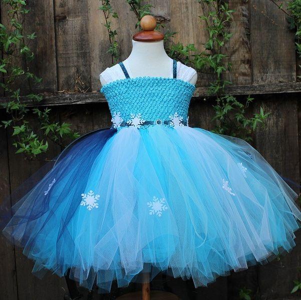 Elsa Kleid -Frozen Kostum - Frozen Kleid von Blooms And Bugs auf DaWanda.com