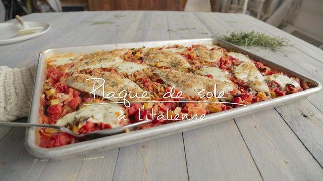 Plaque de sole à l'italienne | Cuisine futée, parents pressés