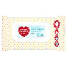 Tesco Loves Baby Pure New Born Fragrance Free Wipes 64 Pack