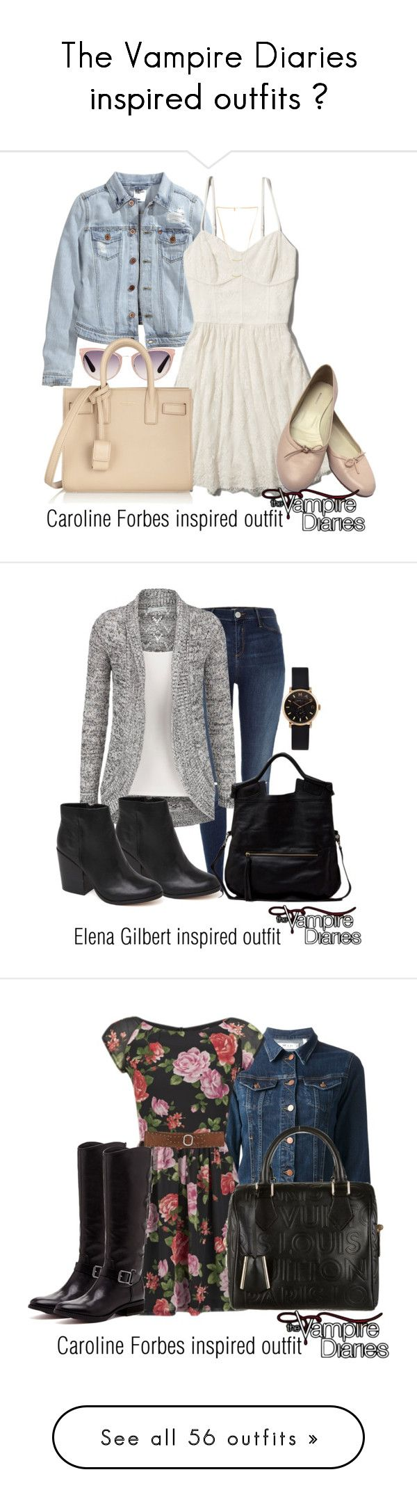 """The Vampire Diaries inspired outfits ♥"" by tvdsarahmichele ❤ liked on Polyvore featuring Tom Ford, H&M, Abercrombie & Fitch, Burberry, Yves Saint Laurent, Gorjana, River Island, Dolce Vita, Foley + Corinna and Marc by Marc Jacobs"