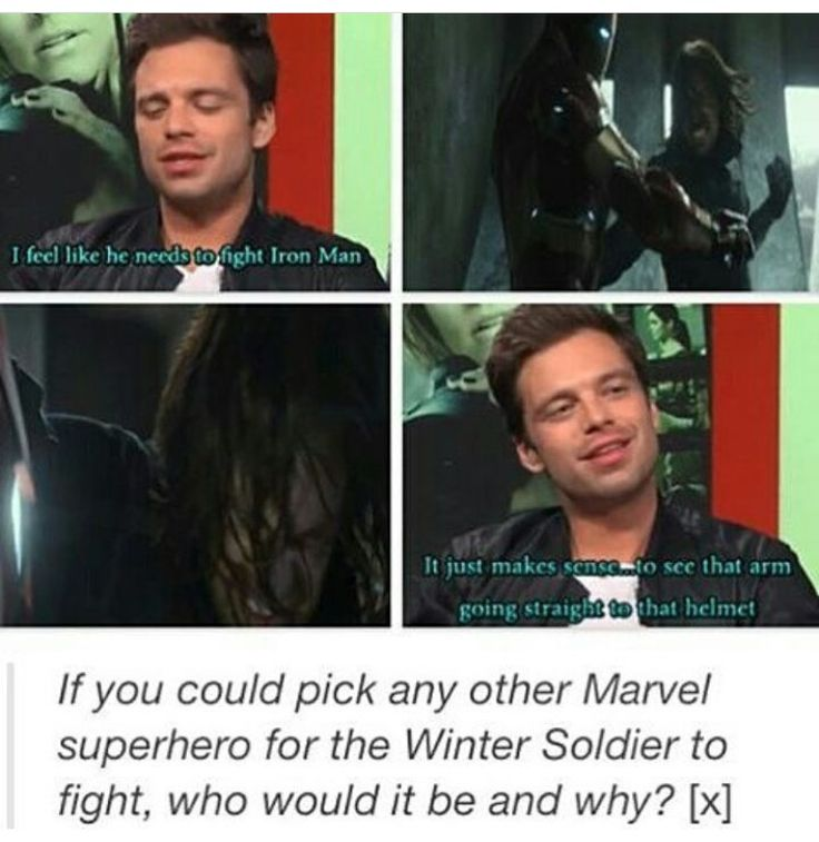 I'd probably say, either vision (even though Buck might lose😞) or Clint, or maybe hulk lol. I love me some Bruce banner y'all. and seb. lol.😂😂