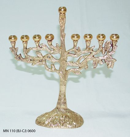 Antique brass chanukah menorah is only ₹1250