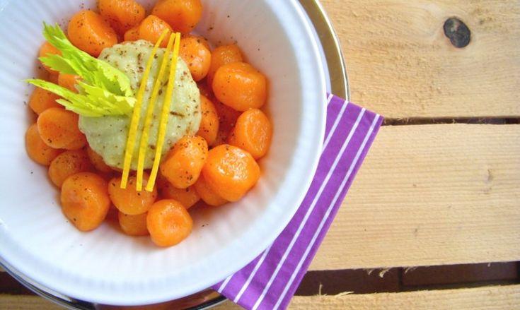 Gnocchi di carote con crema di sedano e limone   UNO cookbook