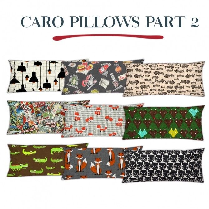 Caro pillows part 2 at leo sims