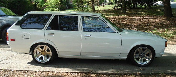 really nice and clean corolla ke70 te72 wagon with a mitsubishi suspension swap toyota corolla. Black Bedroom Furniture Sets. Home Design Ideas