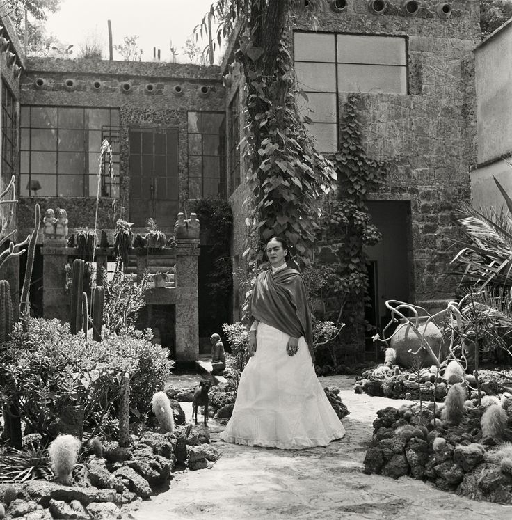 Frida Kahlo in her garden, 1951 – and what a lovely garden it was!