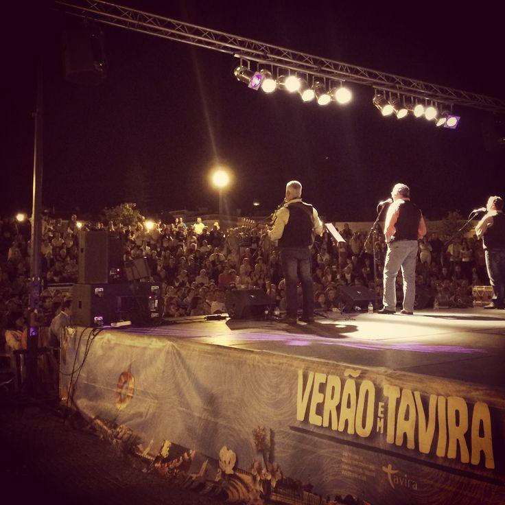 Live music in Praça Republica, Tavira, Portugal.