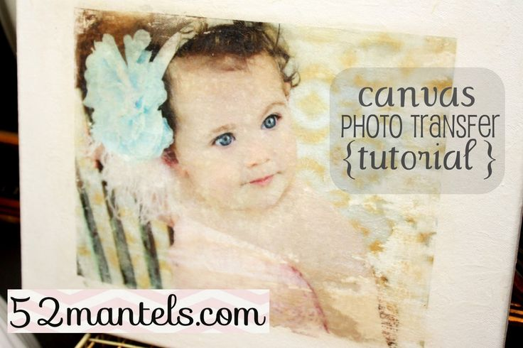 """Check out this fast & easy canvas photo-transfer tutorial by Emily from""""52 Mantels"""" (via Lolly Jane)."""