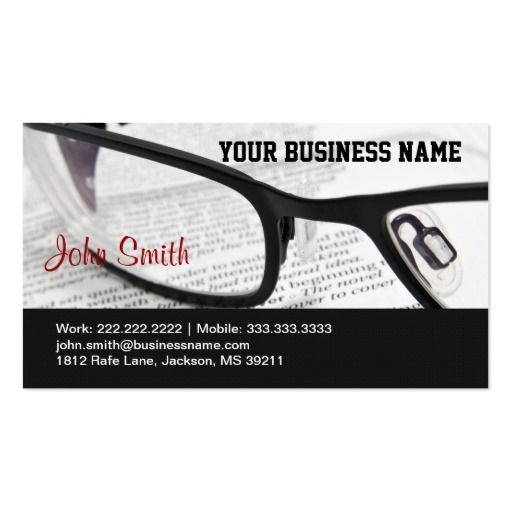 147 best book store business cards images on pinterest business glasses and book business card reheart Gallery