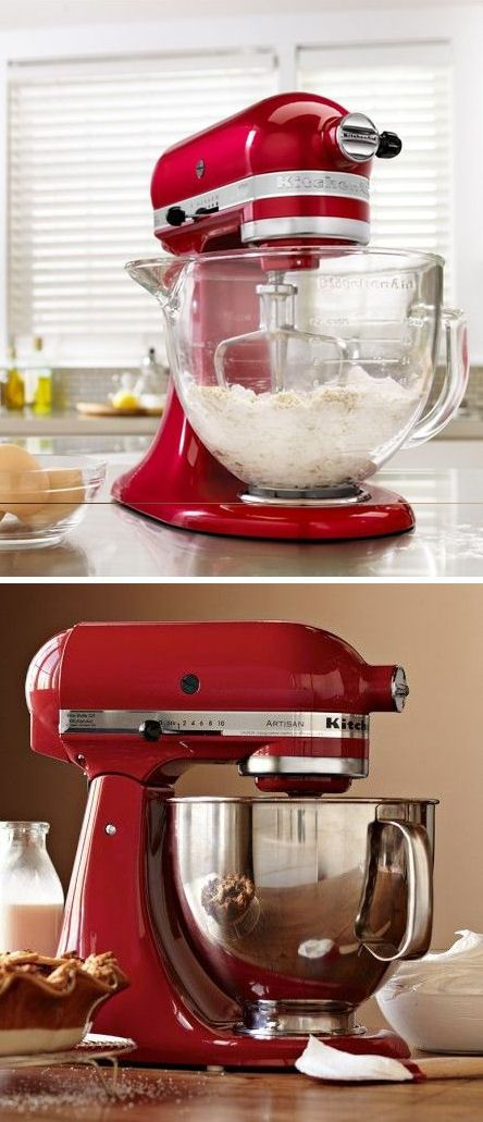 Red Kitchen-Aid Artisan Series Stand Mixer //