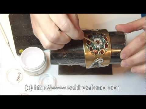 ▶ Cours pâte d'argent. Pose de l'abalone. How to use paua shell. - YouTube