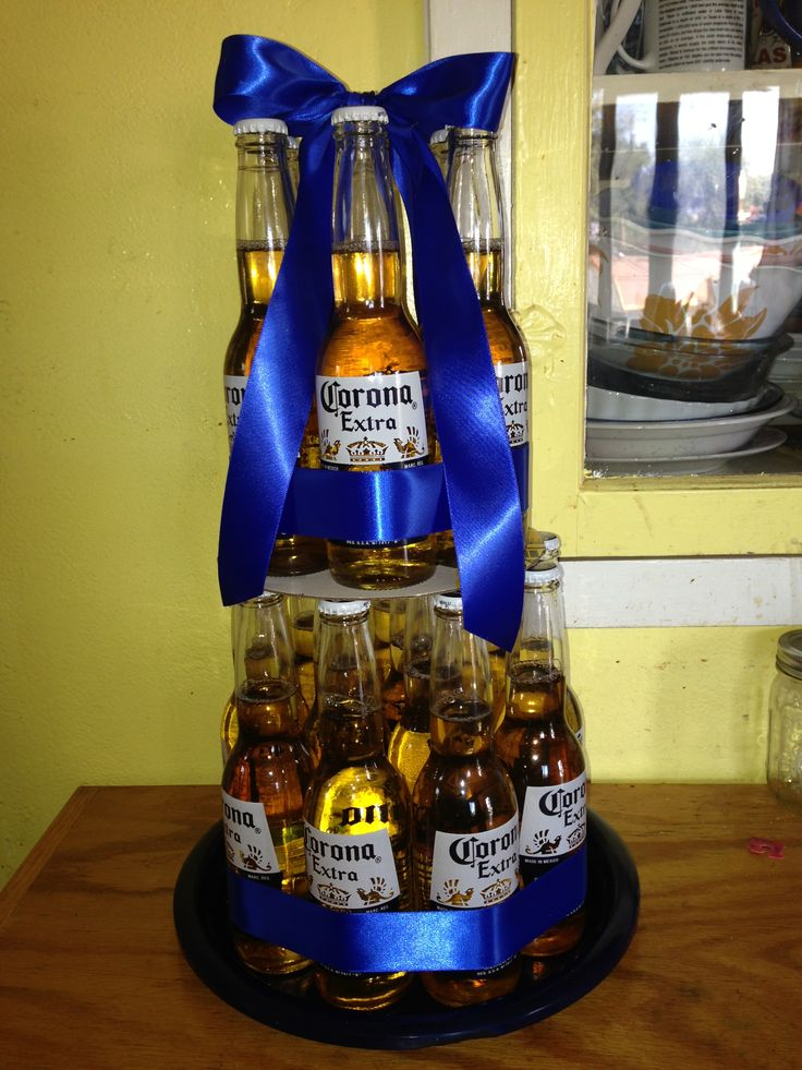 1000 Ideas About Beer Cake Gift On Pinterest Birthday