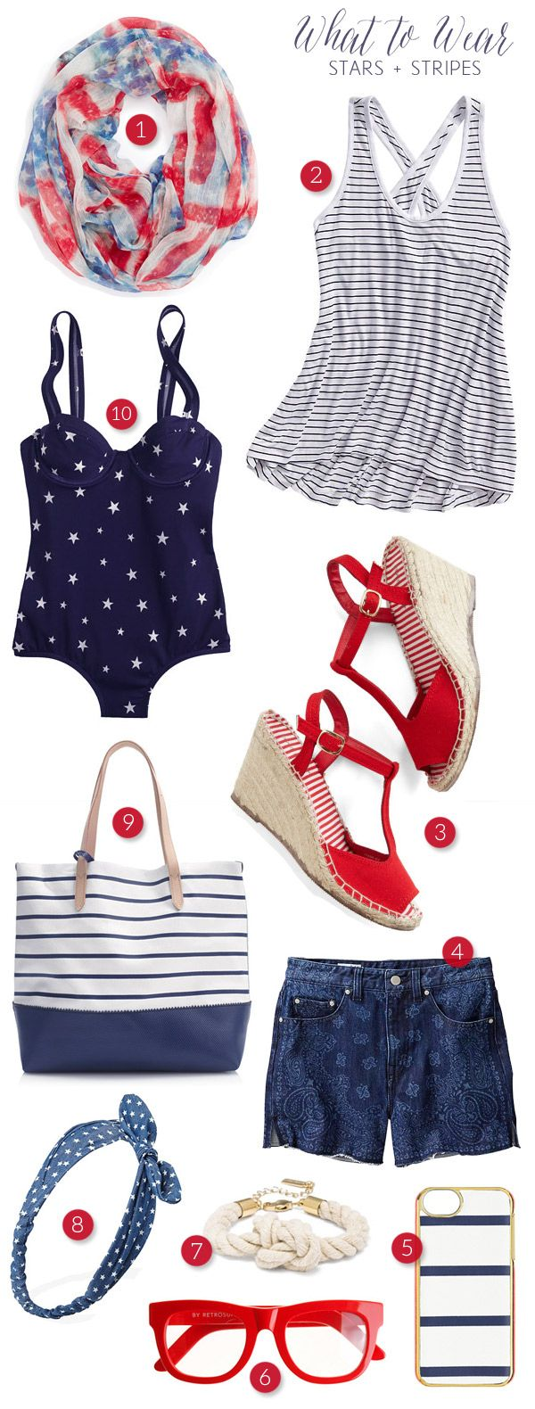 Stars and stripes fashion for the 4th of July! #patriotic #redwhiteblue