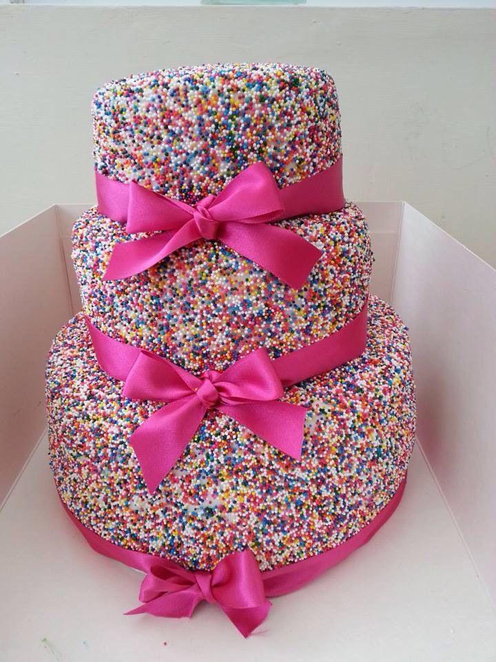 Rainbow Wedding Cake Cakes Pinterest Sprinkles Grandmothers And Girl C