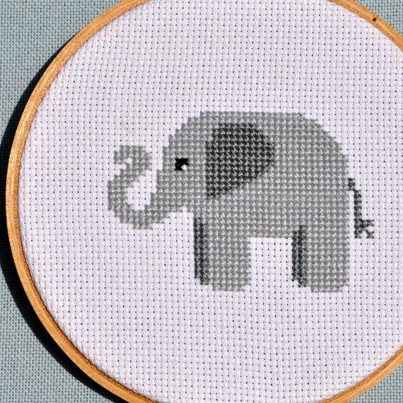 Cute Elephant Counted Cross Stitch Pattern PDF $4 - for @Jenny Trawick