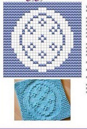 Egg Knit Dishcloths Pattern