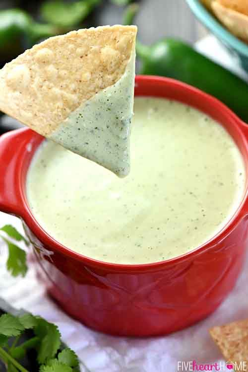Creamy Jalapeño Dip I'm pretty excited to share this recipe, because its definitely one of my favorite dips, and it is SO easy! If you've never been to a Chuy's, you're missing out. Chuys Creamy Jalapeno Dip is known all around. This is the perfect dip it is creamy with just a hint of spice. … Continue reading »