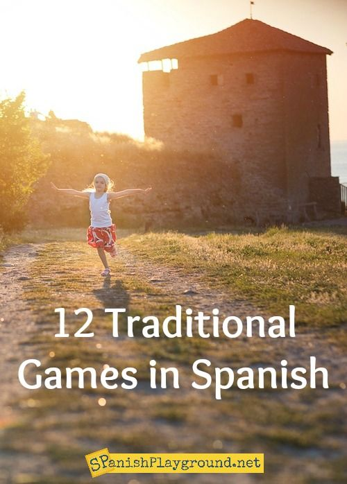 12 Traditional Games in Spanish for kids learning language. Fun, easy and authentic Spanish games for kids.