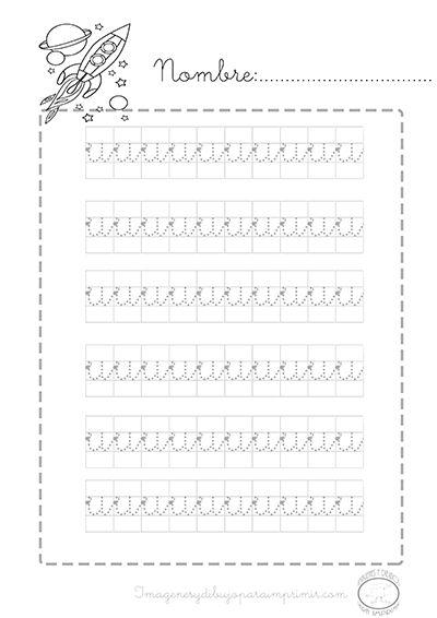 #preescolar #imprimibles para aprender #caligrafia letra u