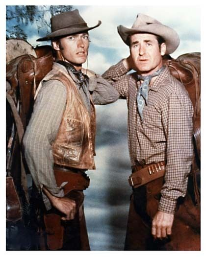 CLINT EASTWOOD & SHEB WOOLEY color promo still RAWHIDE - (a800)