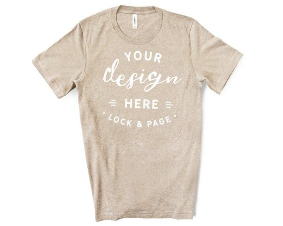 Download Download Free Mens Bella Canvas 3001 Heather Tan T Shirt Mockup Simple Psd Free Psd Mockups Shirt Mockup Free Psd Mockups Templates Mockup Free Psd