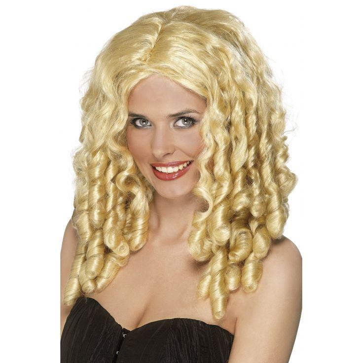 Filmster blonde dames pruik met krullen. Waan u filmster met onze feestkleding en bijpassende damespruiken met krullen. Wij hebben de grootste collectie blonde damespruiken van Nederland en Belgie.