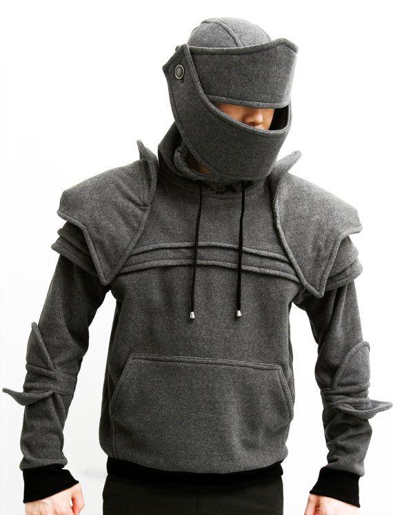 Dark Grey Duncan Armored Knight Hoodie100% Handmade by iamknight