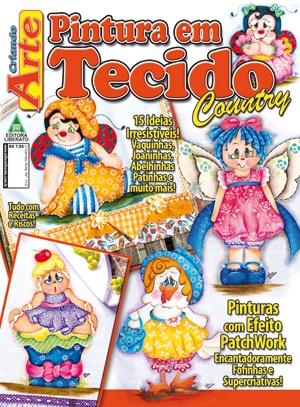 Saiu hoje a minha nova Revista.....15 trabalhos country com passo a passo.