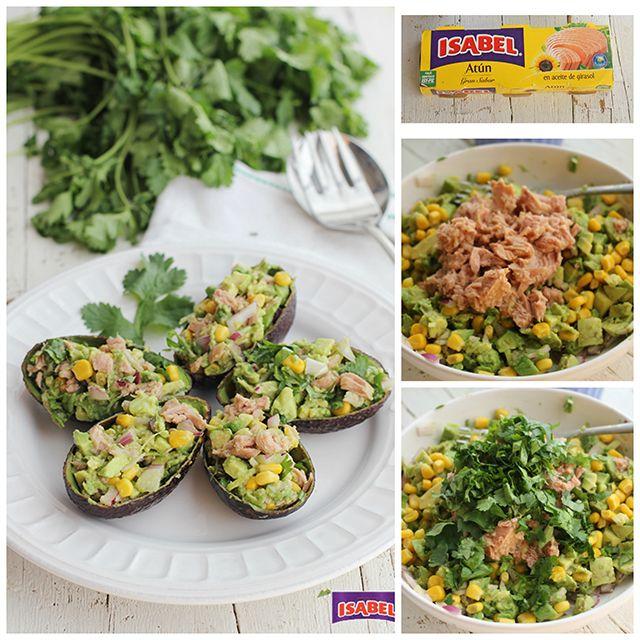 Aguacates rellenos de atún , Aguacates rellenos de atún, una saludable receta fría que sirve como entrante o como ensalada fría de verano. Si te gustan los aguacates prueba la receta