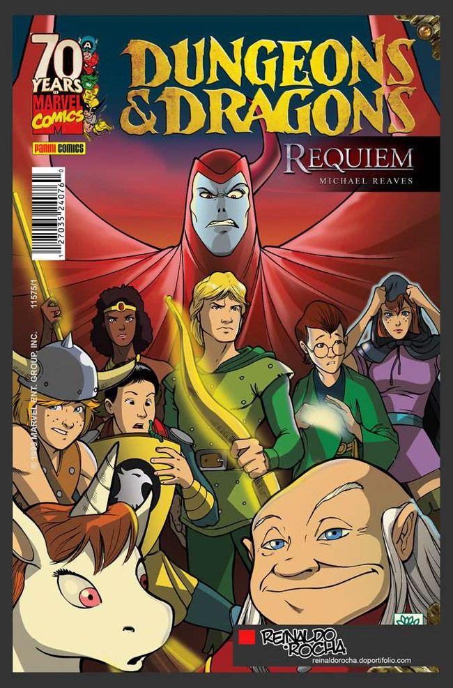Versão em quadrinhos para o roteiro final de Caverna do dragão