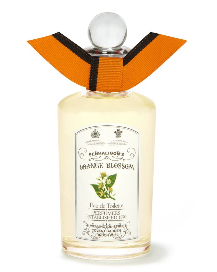 Penhaligon's Orange Blossom. Orange Blossom has been transformed into a luminous honeyed floral. Lush with Calabrian orange and bergamot and tempered with Virginian cedar, rose and peach flower. Wearing Orange Blossom is like walking from shade into warm sunshine. Orange Blossom was originally created in 1976 and has been resurrected as part of our 2010 Anthology Collection. Perfumer: Bertrand Duchaufour