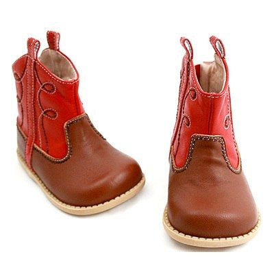 Red Buck Toddler Cowboy Boots by Livie & Luca