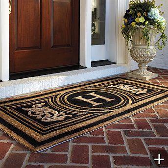 Wingate Monogrammed Entry Mat   Front Door Mat