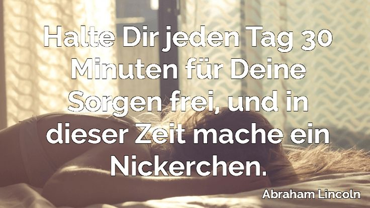 spruch nickerchen high