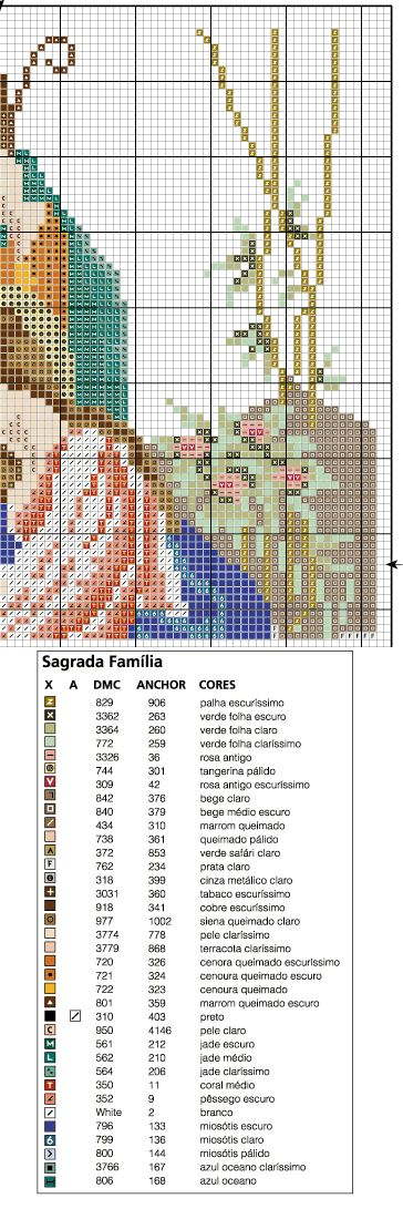 Holy Family from Agulha de Ouro   http://www2.uol.com.br/agulhadeouro/motivos/arquivo/religioso02b.htmreligioso02b.gif (364×1100)