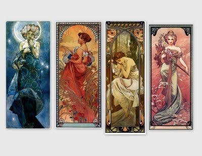 Images art nouveau, femme, déco