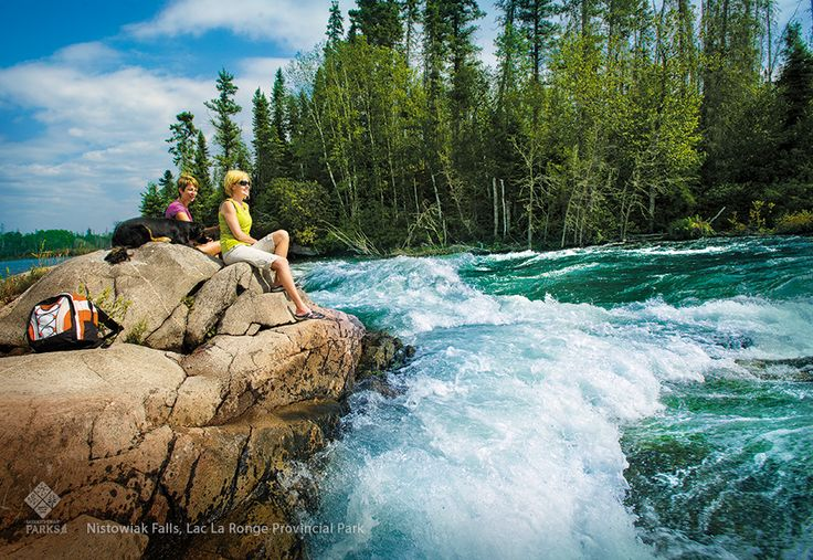 Roar of the Nistowiak Falls in Lac La Ronge Provincial Park