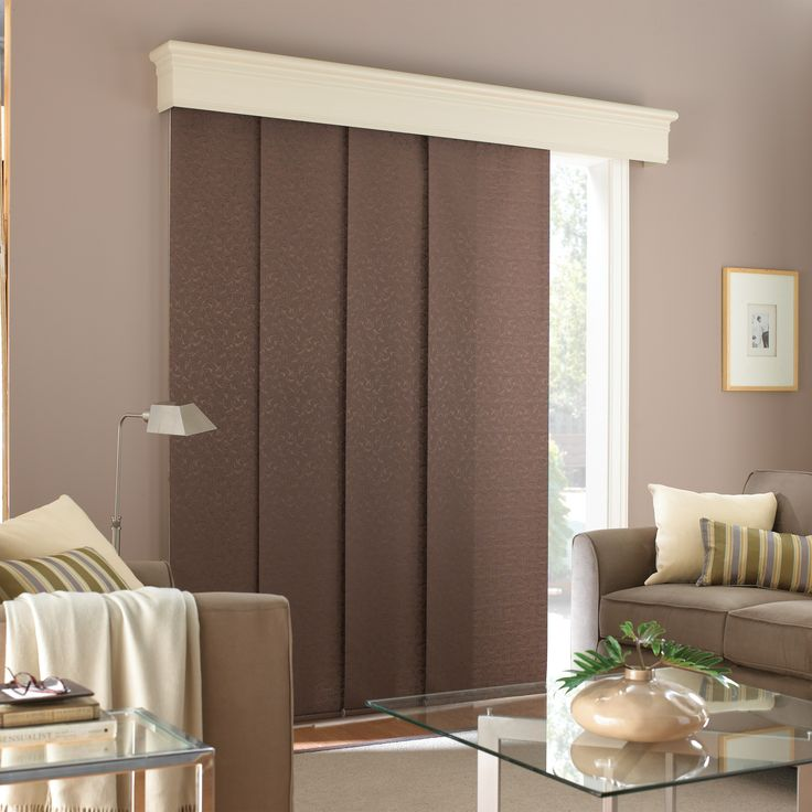 Interior Dark Thermal Panel Blinds With White Cornice Combined Patio Glass Doors Blinds for Patio Doors