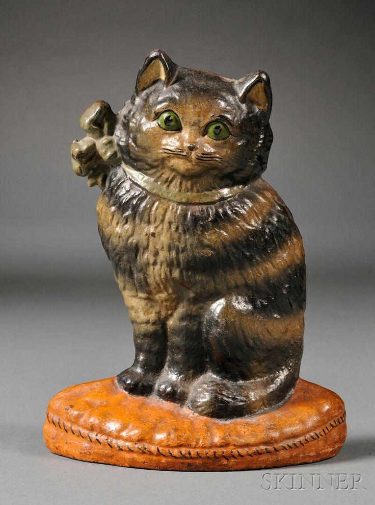 546 best vintage cast iron doorstops images on pinterest door stop doorstop and cast iron - Cast iron cat doorstop ...