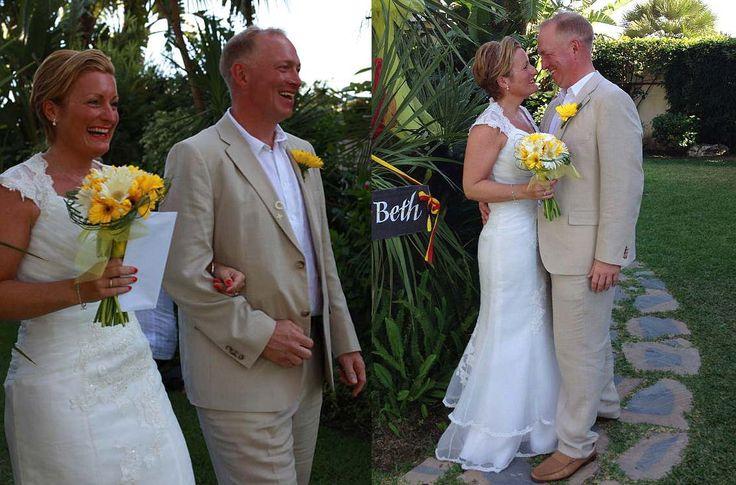 Paul and Beth, wedding in September at Hotel Tamisa Golf, Mijas Costa, Spain.
