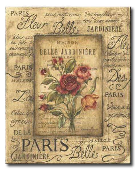 POl_059_Bel Bouquet I / Cuadro Vintage, Flores de Paris