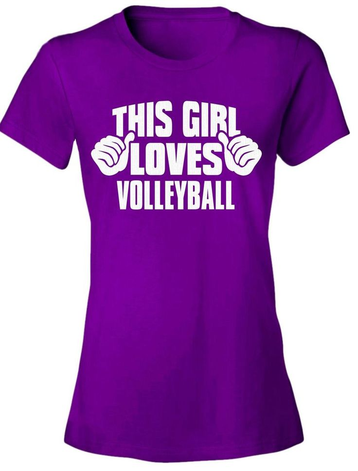 This Girl Loves VOLLEYBALL - NEW Women's Tee Shirt 7 COLORS funny graphic tshirt #Unbranded #GraphicTee