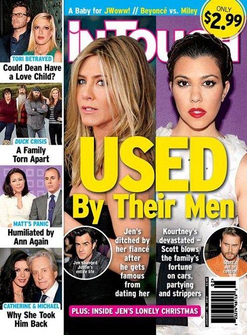 Kourtney Kardashian and Jennifer Aniston Used By Their Men (Photo) #KourtneyKardashian #JenniferAniston