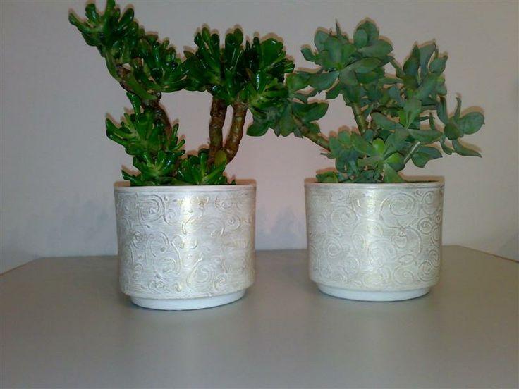 Vasi bianco/oro antico