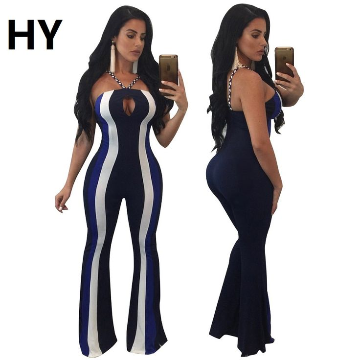 New Plus Size Playsuits And Jumpsuits Body Mujer Bodysuits Women Stripped Beach Sexy Night Club Fashion Jumpers Longue Barboteus #Affiliate