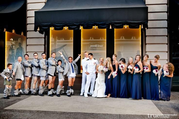 Funny Bridal Party, I Do Weddings, True Photography