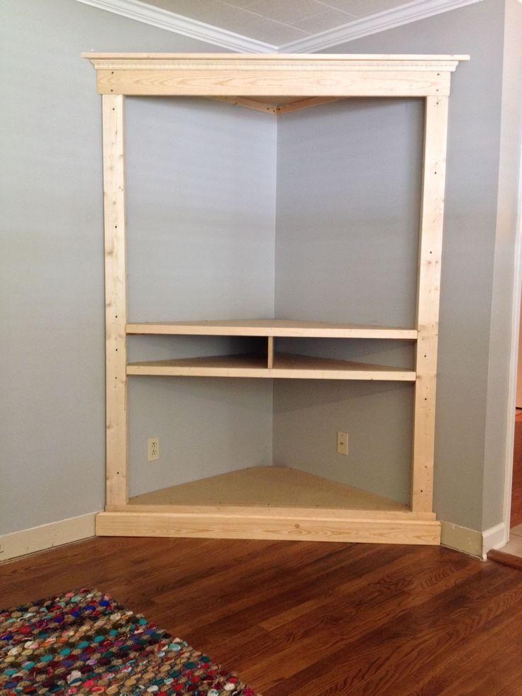 Custom Made Custom Corner Entertainment Media Cabinet