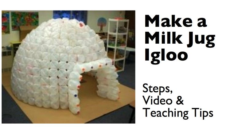 How to Build a Milk Jug Igloo--I SO need to collect jugs to do this for little boy's room!!