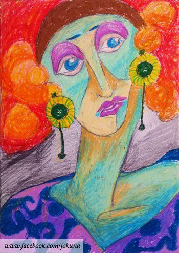 <여장남자, Transgender, oil pastel, 2009>